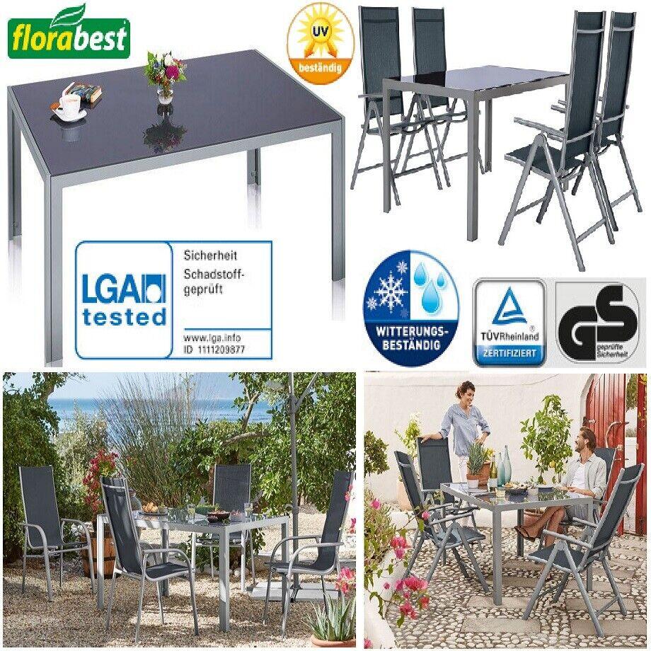 Florabest Aluminium Glastisch Gartentisch Tisch Garten Terrasse Möbel  OVP