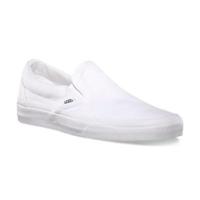 Vans Classic Slip On True White Skate Mens Womens Canvas Sho