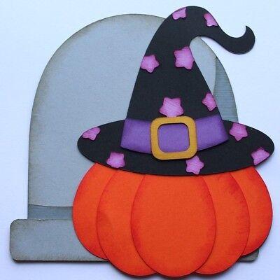 Halloween Pumpkin Witch Paper Piecing Scrapbook Scrapbooking Creative Fall ](Halloween Pumpkin Paper Craft)