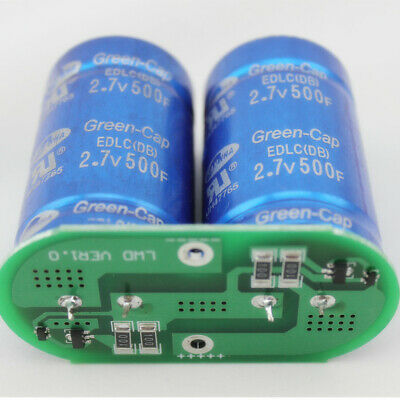 Sawmha 2.7v 500f Green-cap Ultracapacitor Super Capacitor With Protection Plat