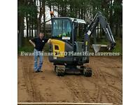 EWAN SKINNER LTD PLANT HIRE. DIGGER,DUMPER WITH OPERATOR, INVERNESS