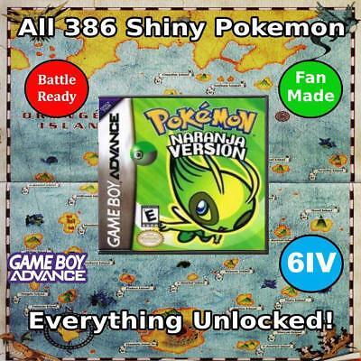 Unlocked Pokemon Naranja | All 386 Shiny Pokemon | Fan-Made | GBA DS