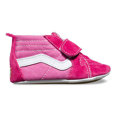 Vans Baby Girls Sk8 Hi Pink/Hot Pink Crib Infant Size -1 - 2 - 3 Free Shipping (Pink Baby Vans)