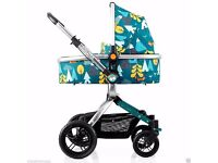 New Cosatto Fox Tale Ooba, 3 in 1 Pram Travel System + Footmuff, Bag & Raincover