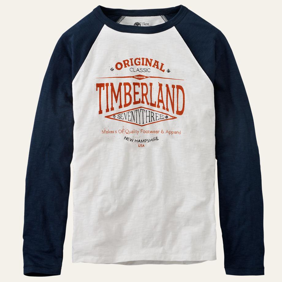 declaración Camión golpeado Inconsistente  Timberland Men's Long Sleeve Slub Jersey Navy Cotton Baseball T-Shirt A1EHP  | eBay