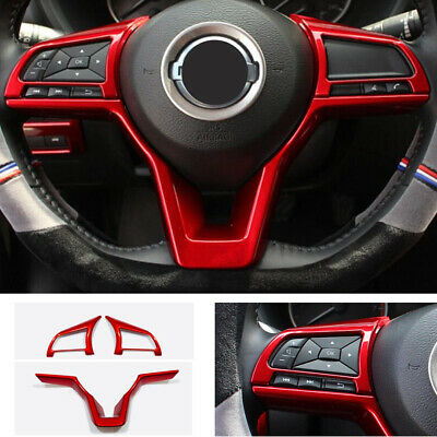 Red Car Steering Wheel Trim 3pcs For Nissan Altima 2019 2020