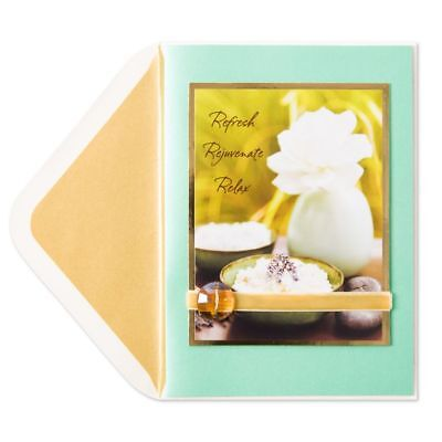 Papyrus Mothers Day Greeting Card Spa Photo In Mint  6 95