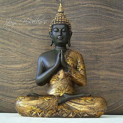Praying THAI BUDDHA Sitting Ornament Figure Statue Sculpture MEDITATING Figurine