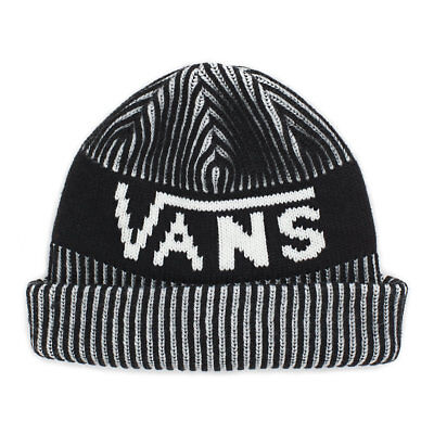 Vans STRIPE CUFF Mens Beanie (NEW) Black & White BEENIE WINTER CAP Free Shipping White Stripe Beanie
