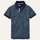 Timberland Men's Cotton Blend Striped Polo, Rugby Casual Shirts