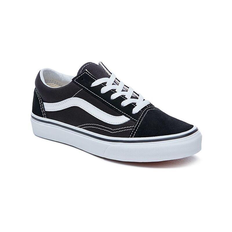 Dettagli su Vans Old Skool Sneaker Nero & Bianco Bambini Scarpe Da Ginnastica mostra il titolo originale