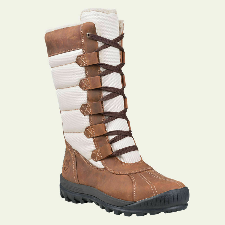 NIB Timberland Women's Mt. Hayes Tall Waterproof Winter Boots Suede and Cordura