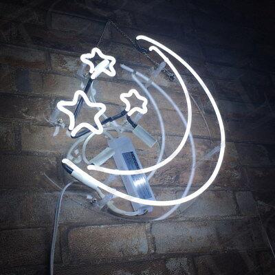 Neon Sign Light Stars & Moon Night Club Bedroom Wall Decor Bontique Artwork
