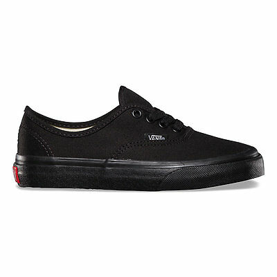 VANS Classic Authentic Black/Black Shoes Kids Youths Boys Sneakers Free Shipping