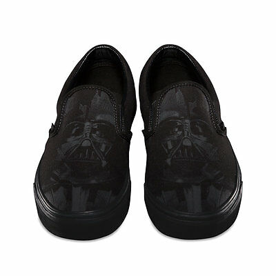 VANS x STAR WARS Classic Slip On Shoes (NEW) Darth Vader DARK SIDE Mens Sz. - Star Wars Shoes Mens