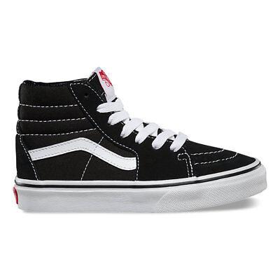 VANS KIDS SK8-Hi Black/True White VN0D5F6BT All Sizes 11- 4 Fast Shipping