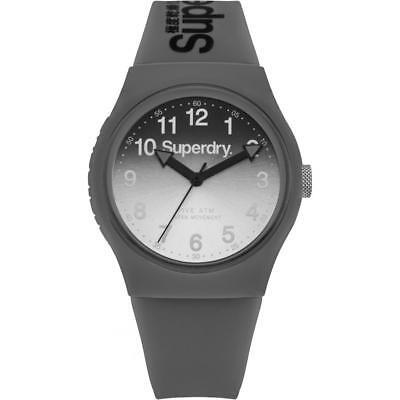 Genuine Superdry 'Urban' Grey Silicone Strap Watch With Gradient Grey Dial