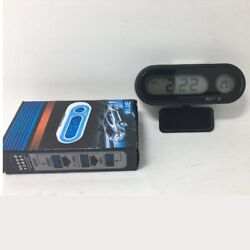 Multifunctional Small Digital LCD Display Blue Backlight Car Clock Thermometer S