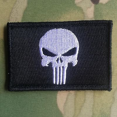 PUNISHER SKULL SWAT SPECIAL OPS USA ARMY MILITARY TACTICAL MORALE PATCH BLACK