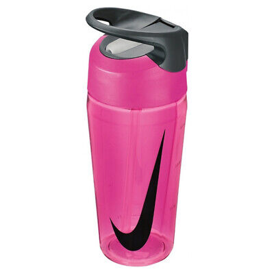 Nike HyperCharge Straw 16oz Gym Sports Water Drinks  Bottle No Leak Vivid Pink