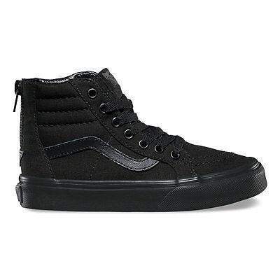 VANS KIDS SK8-Hi Zip (Pop Check)) Black/Black All Sizes 10.5- 6 Fast Shipping