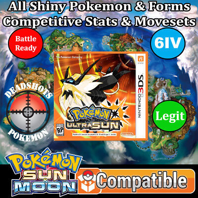 Custom Legit Unlocked Pokemon Ultra Sun   All Pokemon  All Items  3Ds