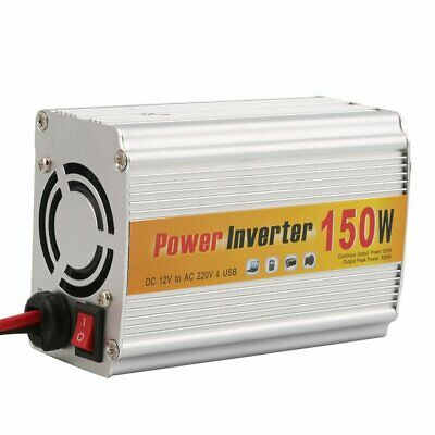 150w Power Inverter (150W Car Auto Inverter Power Supply Adapter 12V DC to 220V AC Laptop Computer NW)