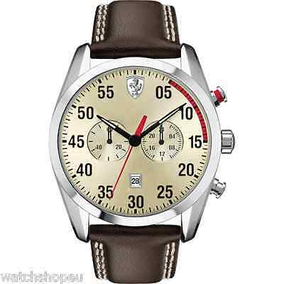 NEW SCUDERIA FERRARI 0830174 MENS D-50 WATCH - 2 YEARS WARRANTY