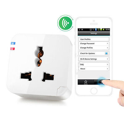 WiFi Cell Phone Wireless Remote Control Switch Timer Smart Power Socket Plug New