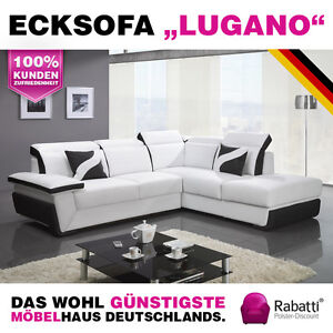 Luxus sofagarnitur ecksofa eckcouch schlafsofa for Schlafcouch ecksofa