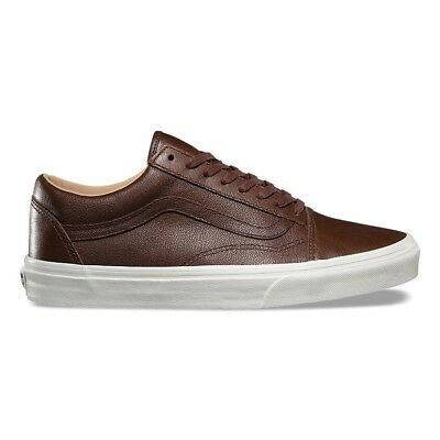 VANS OLD SKOOL LUX LEATHER CHOCOLATE PORCINI TRAINERS