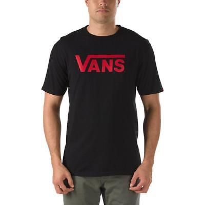 Vans Off The Wall Men's Classic Logo Graphic T-Shirt - Black/Cardinal (Cardinal Classic Logo T-shirt)