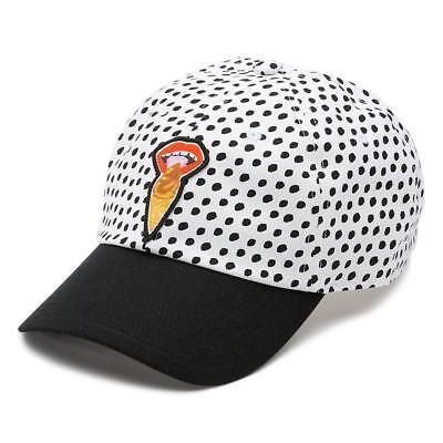 Vans Off The Wall x Kendra Court Side Hat Scream Ice Cream Cone Polka Dot NWT - X Scream Cream