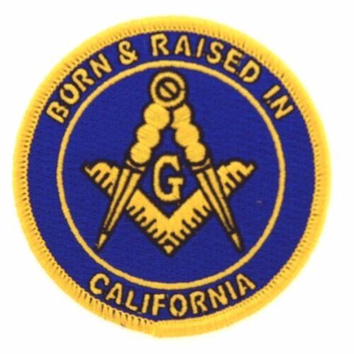 2 Master Mason Born And Raised in California  Masonic Patches