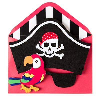 Papyrus Halloween Wearable Pirate Mask Wishing You Swashbuckling Birthday - Halloween Birthdays Cards
