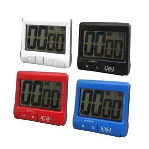 Large LCD Digital Kitchen Timer Count-Down Up Clock Loud Alarm IG