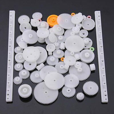75 Type Plastic Crown Gear Single Double Reduction Gear Worm Gear -white