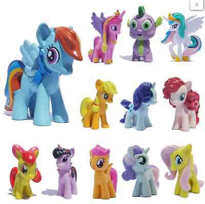(12pcs/Set Lot MY LITTLE PONY FRIENDSHIP IS MAGIC ACTION FIGURE Toy )