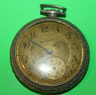 Vintage LANGENDORF SWISS POCKET WATCH 7j parts/repair