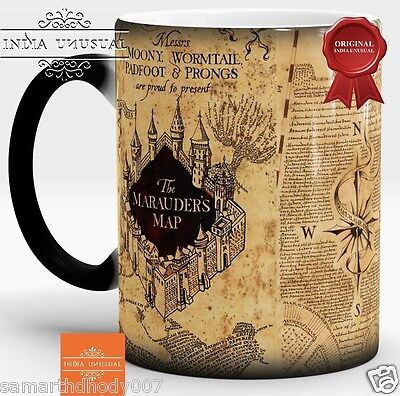 Harry Potter mug, Marauders map, Harry Potter map, Magic mug