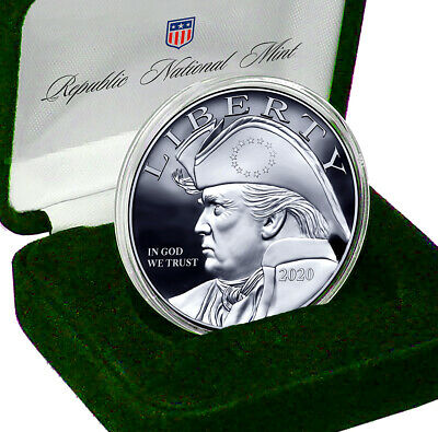 2020 Patriotic Trump Silver Eagle Coin with Gift Box & Certificate