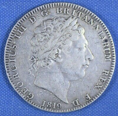 1819 CROWN GEORGE III LX WITH STOP TYPE NICE ORIGINAL COIN