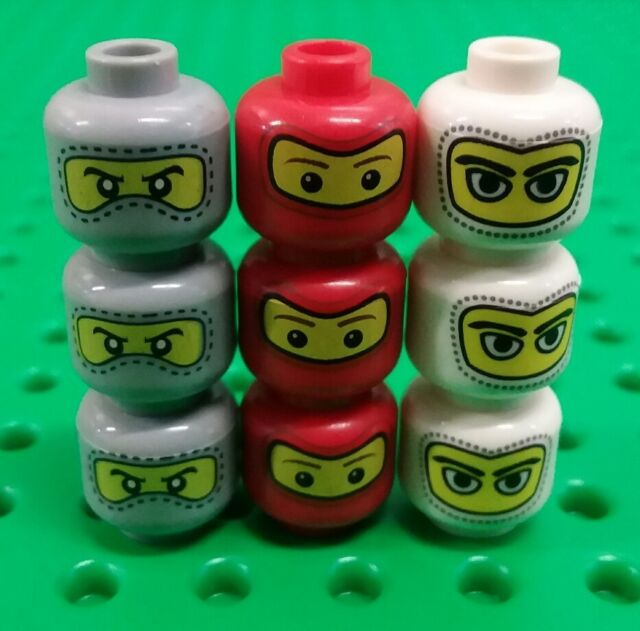 *NEW* Lego Ninja Racing Car Driving Mask Faces Bulk Heads Mini Figures 9 pieces