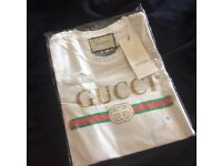 100% Authentic Gucci White T-shirt New (SOLD OUT IN STORES)
