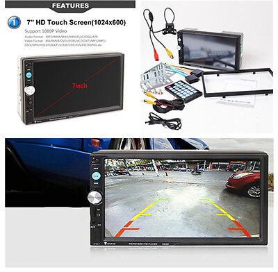 Car Stereo Audio MP5 Player Rear View Camera Radio FM Tuner Bluetooth Hands-free Rear View Hands Free Car