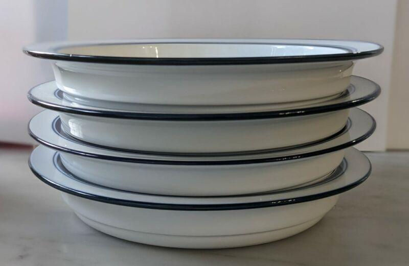 """Dansk Bistro Christianshavn Blue 8"""" Lunch Salad Plates - Set of 4, Vintage"""