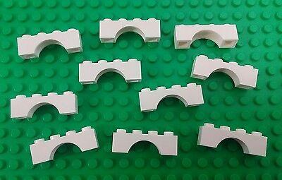 New  Lego White Arches 1X4 Stud Bricks Block Castle Houses Building  10 Pieces