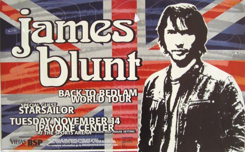 """JAMES BLUNT/STARSAILOR """"BACK TO BEDLAM WORLD TOUR"""" 2006 SAN DIEGO CONCERT POSTER"""