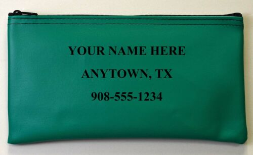 Custom Vinyl Hot Stamped Personalized Business Money Deposit Bank Business Bag