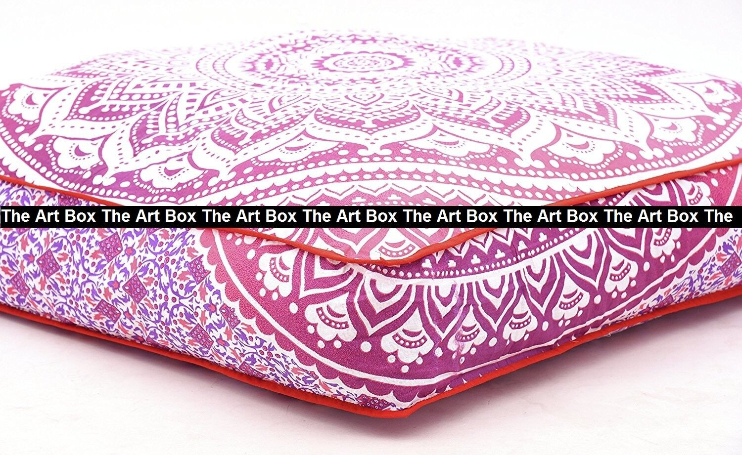 Ombre Mandala Indian Big Square Floor Cushion Cover Dog Bed